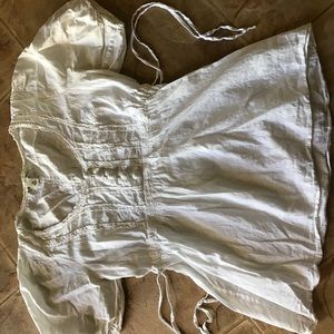 Banana republic white cute doll girly shirt blouse